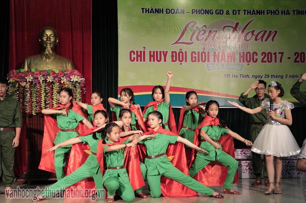 """Liên hoan """"Chỉ huy đội giỏi"""" thành phố Hà Tĩnh năm học 2017-2018"""