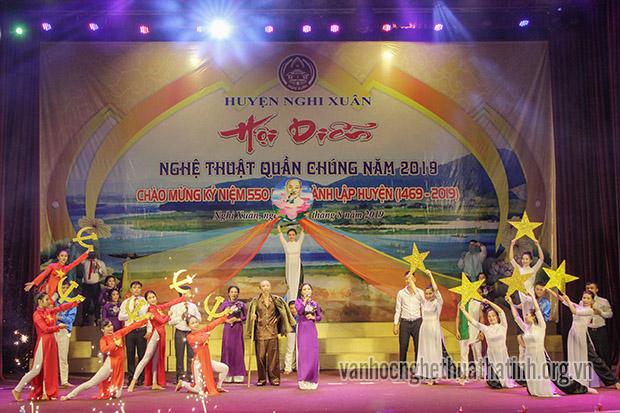 Nghi Xuân - Khai mạc hội diễn nghệ thuật quần chúng năm 2019