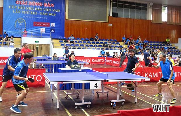 Hà Tĩnh tạo ấn tượng tại Giải bóng bàn Cúp Hội Nhà báo Việt Nam lần thứ XIII