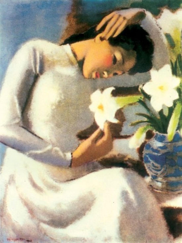 Thiếu nữ trong tác phẩm của Họa sĩ Tô Ngọc Vân
