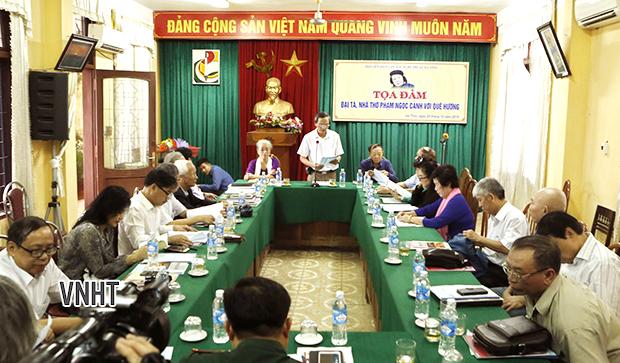 Tọa đàm Nhà thơ Phạm Ngọc Cảnh với quê hương Hà Tĩnh