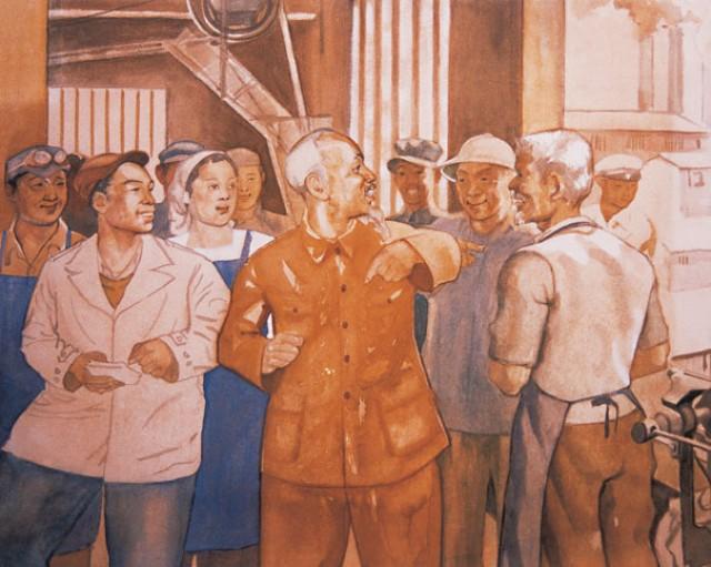 Hình tượng người công nhân trong tác phẩm của Họa sĩ Nguyễn Đỗ Cung