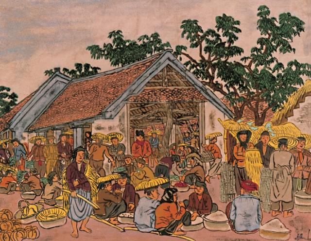 Những người nông dân trong tác phẩm của họa sĩ Nguyễn Tiến Chung