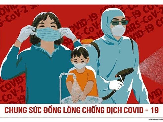 Công bố 14 tranh cổ động xuất sắc phòng chống dịch Covid-19