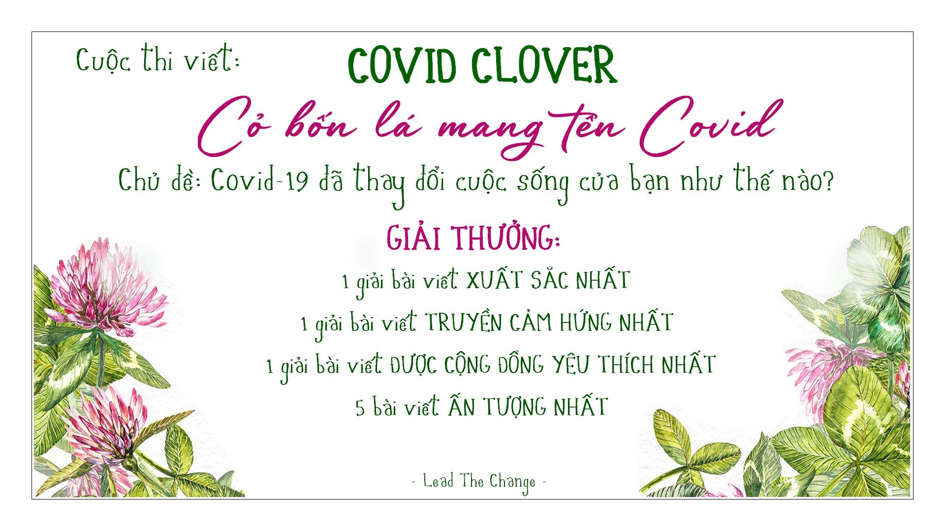 Cuộc Thi Viết Covid Clover 2020 - Cỏ Bốn Lá Mang Tên Covid-19