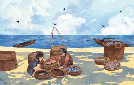 Tản văn Chợ cá làng tôi của nhà thơ Nguyễn Ngọc Phú