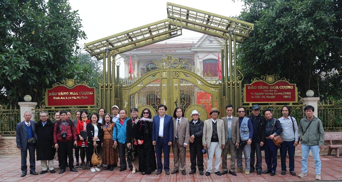 Hội Liên hiệp VHNT tỉnh Hà Tĩnh tổ chức chuyến đi thực tế sáng tác về đề tài Nông thôn mới